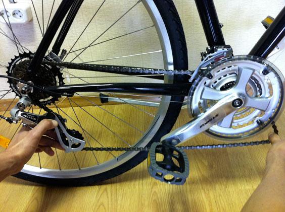 Цепь велосипедная схема