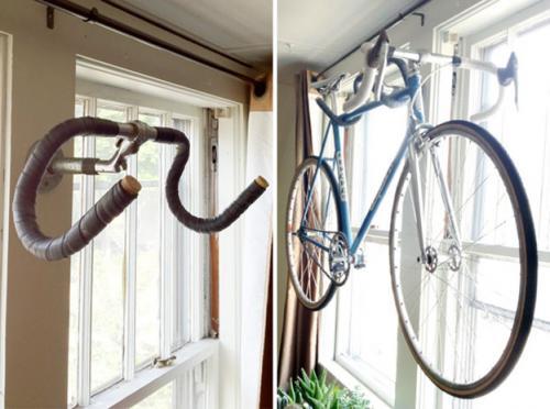 крюк из старого руля от шоссейного велосипеда