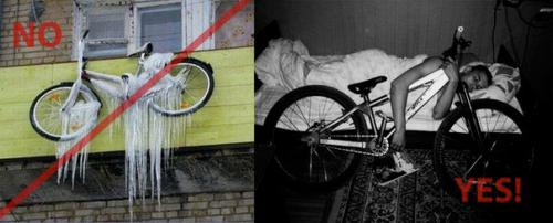 как хранят велосипед