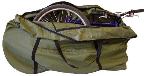 велосипед, упакованный в чехол