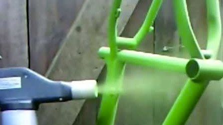 нанесение краски пулевизатором