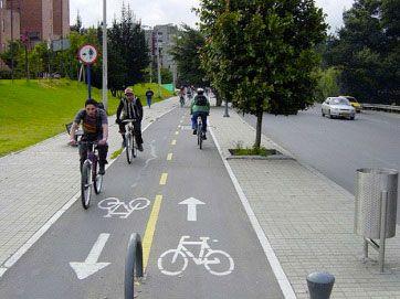 разметка для велосипедисто