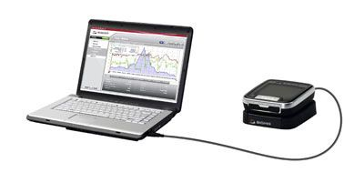 велокомпьютер подсоединённый к ноутбуку