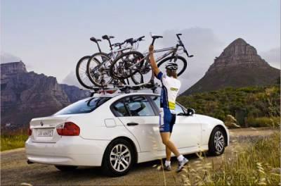 погрузка нескольких велосипедов
