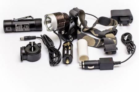 комплект фар с батареей и зарядкой