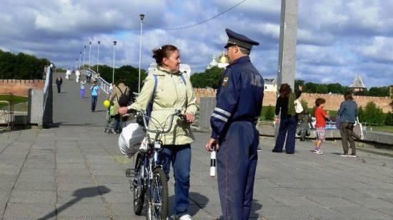 велосипедист нарушил ПДД
