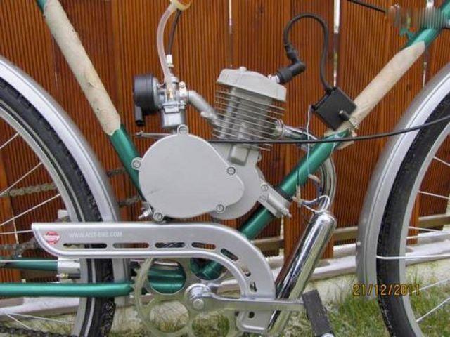 Двигатель на велосипеде «Украина»