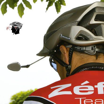Зеркало на шлеме