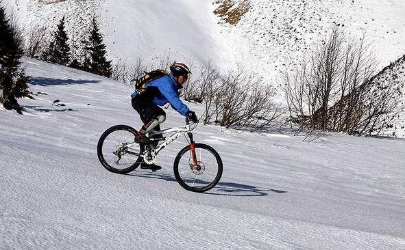 велопрогулка зимой