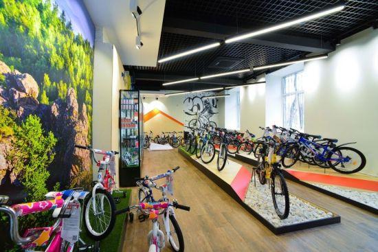 велосипеды в магазине