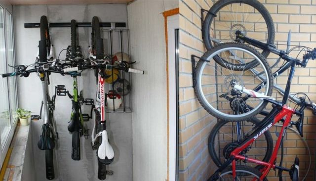 Хранение велосипедов на балконе