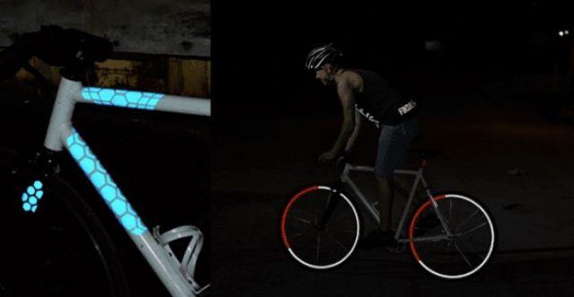 Светоотражатели на велосипеде
