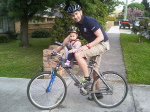велосипед с креслом для ребенка