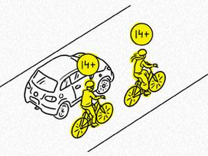 велосипедисты на дороге