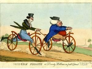 """открытка """"Два велосипедиста"""" (1919 г.)"""