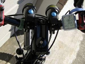 велокомпьютер на руле