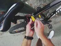 пристёгивание велосипеда