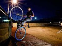 велосипед-фикс в действии