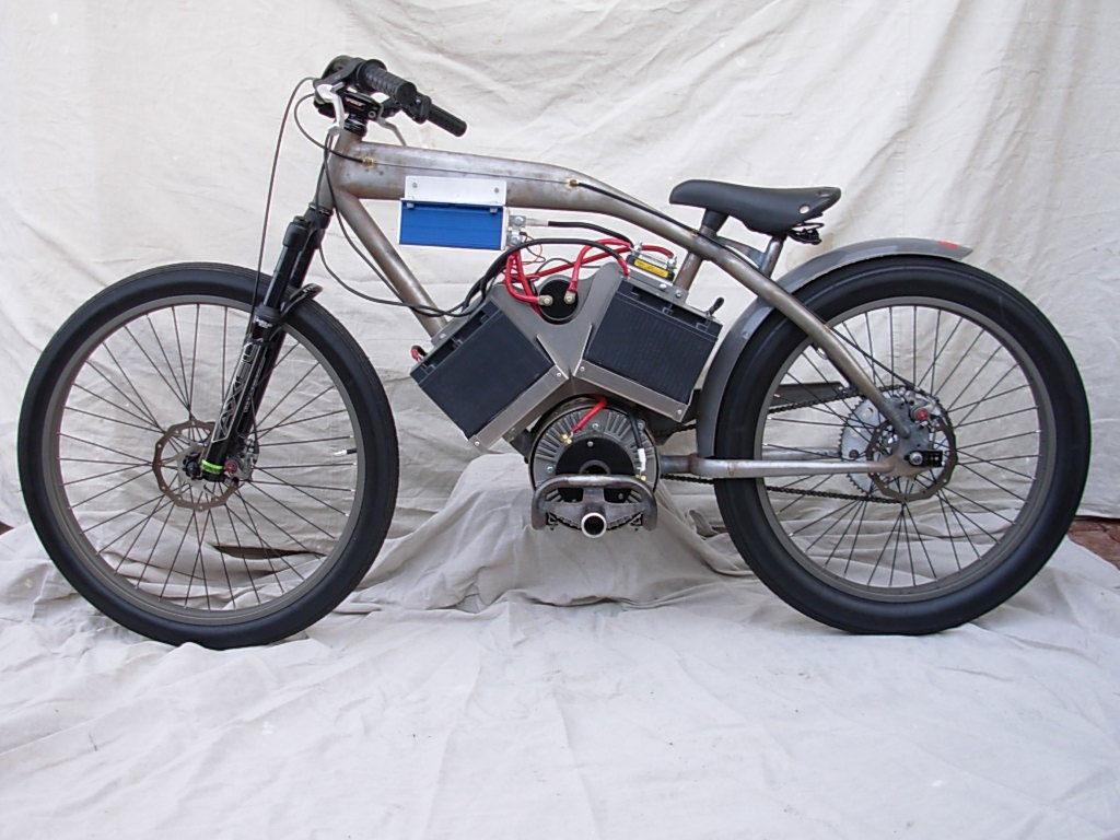 Самодельный велосипед на электромоторе