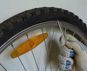 разбортирование колеса