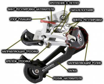 Схема переключателя с натяжителем