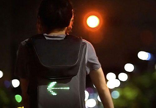 сигнал поворота на рюкзаке