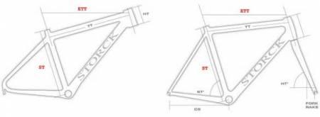 измерение велосипедной рамы