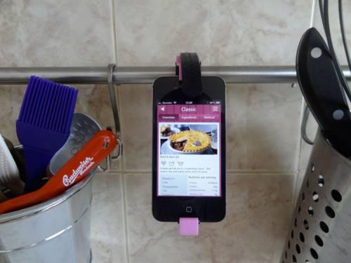 смартфон, закреплённый на штанге