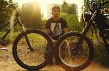 велосипед и мотоцикл