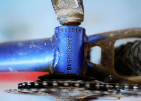 Номер велосипедной рамы