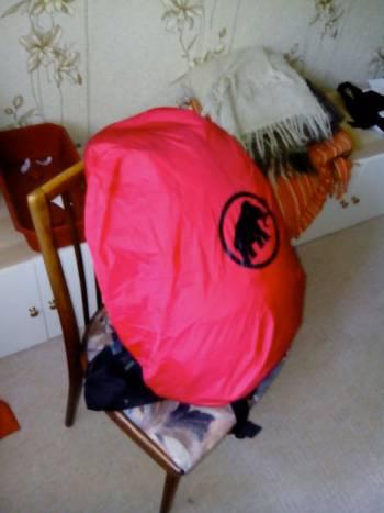 зачехлённый рюкзак