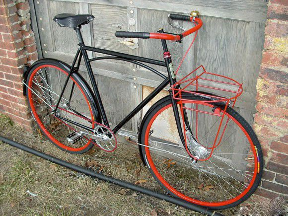 перекрашенный велосипед