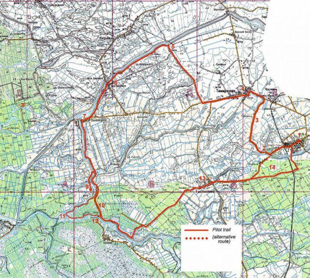 маршрут на географической карте