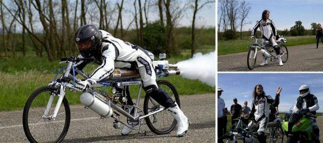 велосипед с ракетной установкой