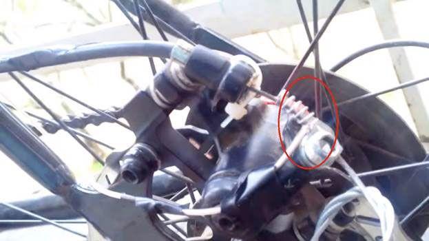 подсоединение провода к пружине
