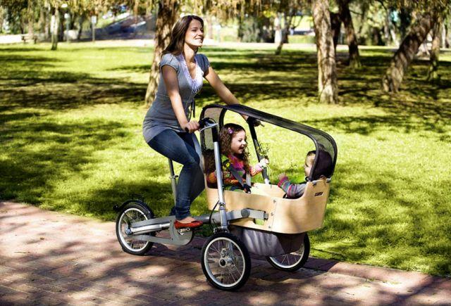 велосипедная прогулка с ребёнком