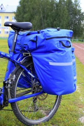 рюкзак на багажнике