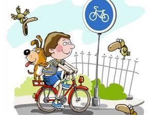 Дорожный знак для велосипедистов