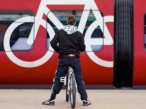 велосипедист в метро