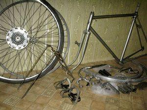 разборка велосипеда