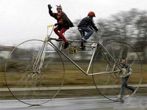 очень большой велосипед
