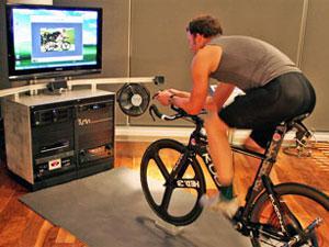 велотренажер из велосипеда