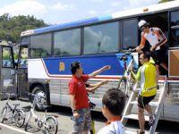 разгрузка автобуса