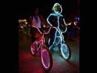 вариант подсветки велосипеда